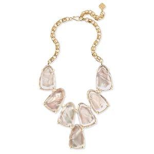 Kendra Scott Harlow Statement Necklace Ivory Pearl